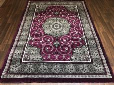 Modern Rug Approx 7x5 150x210cm Woven Design Top Quality Purple/Greys Stunning